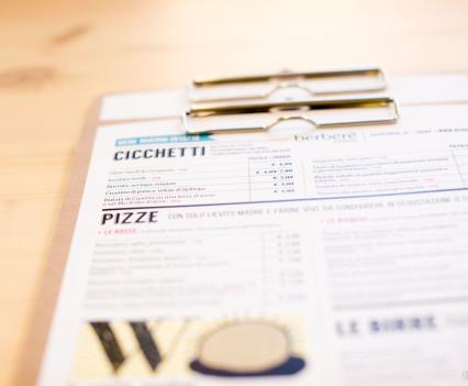 Berberè Turin - menu
